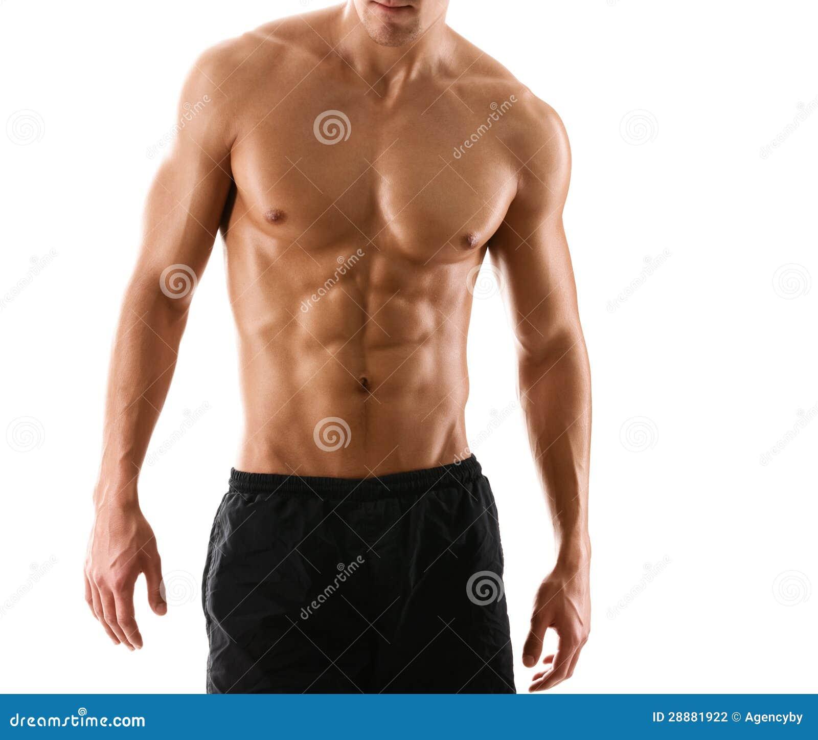 Halvt naket sexigt förkroppsligar av muskulös man