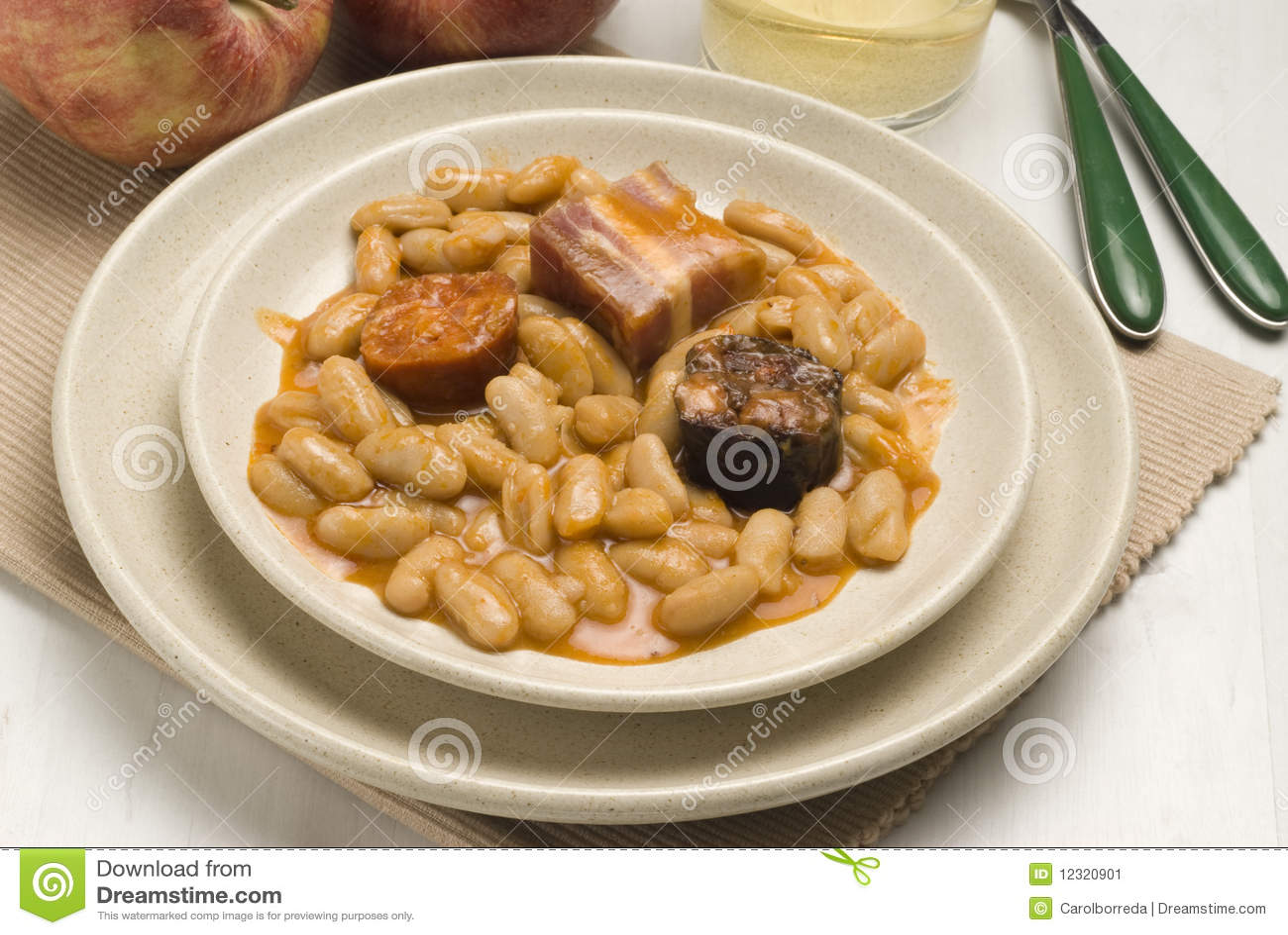 Ham and beans asturias style spanish cuisine fa stock for Asturias cuisine