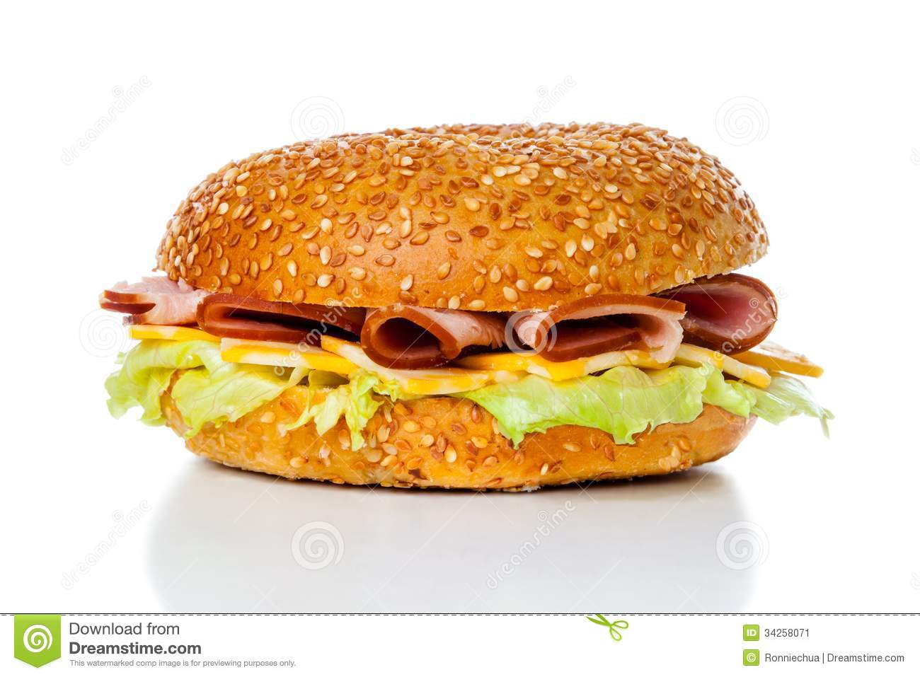 ham and cheese bagel sandwich stock image image of vegetable rh dreamstime com Hamburger Clip Art Bagel Sandwich Ideas