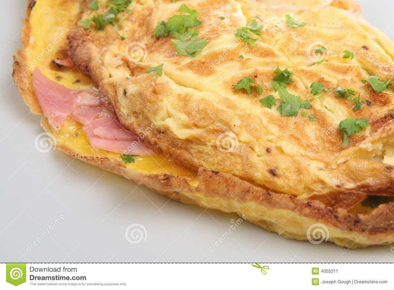 Ham & Cheese Omelet Stock Image - Image: 4355211