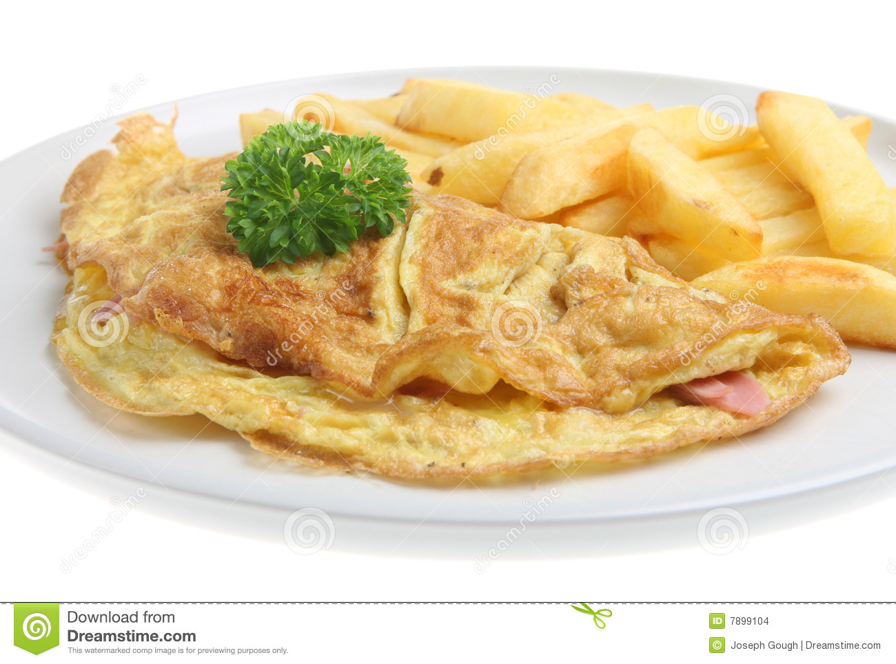 Ham & Cheese Omelet stock photo. Image of meal, isolated ...