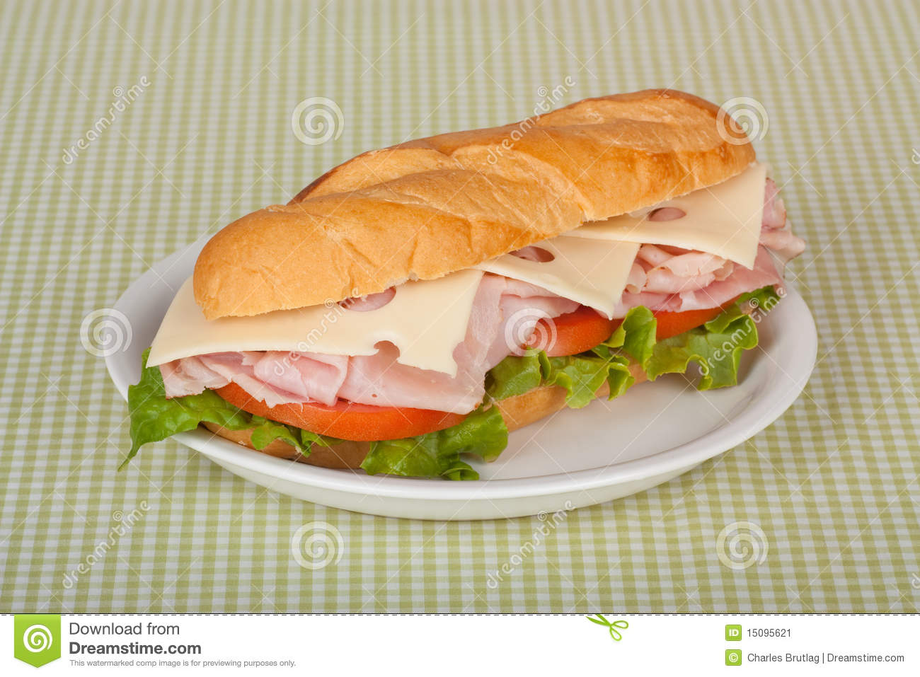 Ham And Cheese Sandwich Stock Image - Image: 15095621