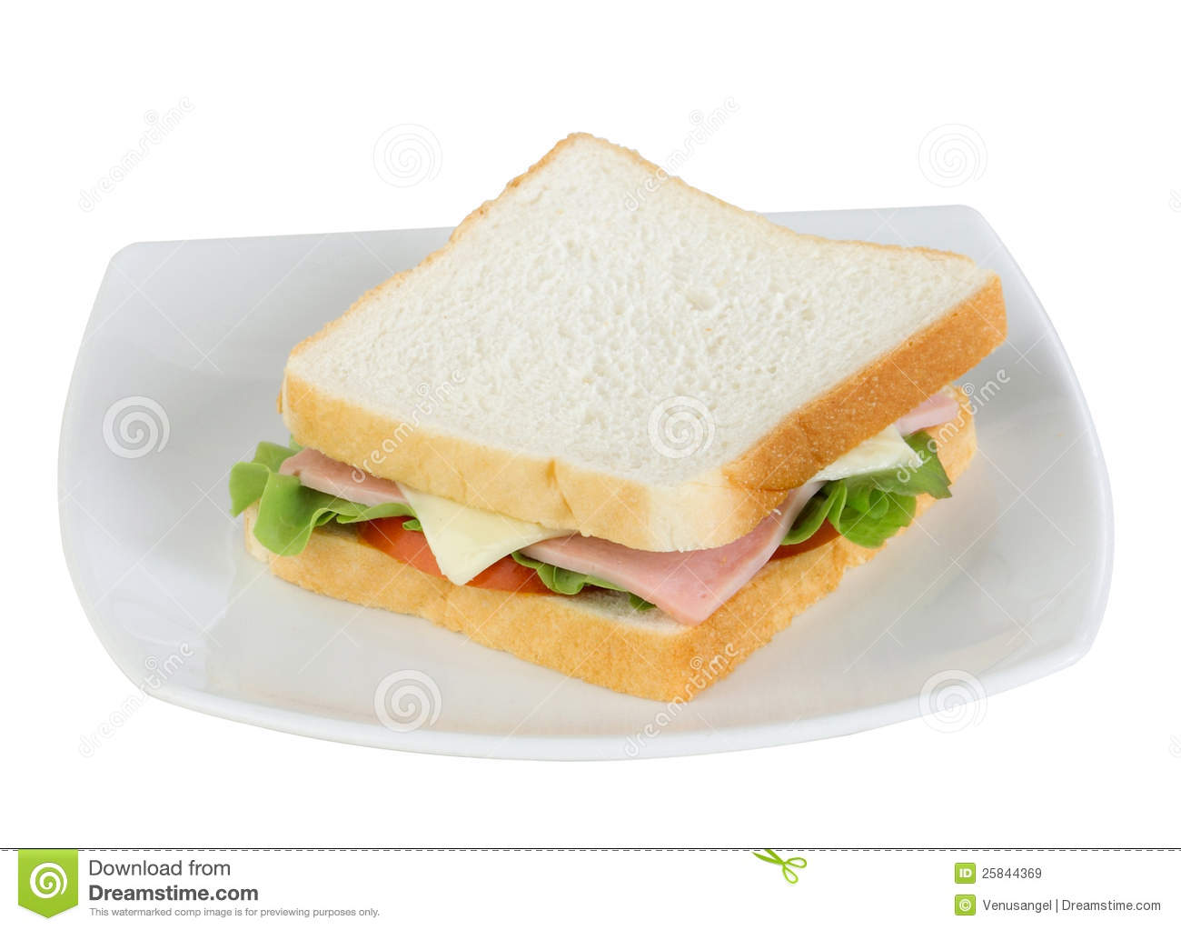 Ham And Cheese Sandwich Royalty Free Stock Images - Image: 25844369
