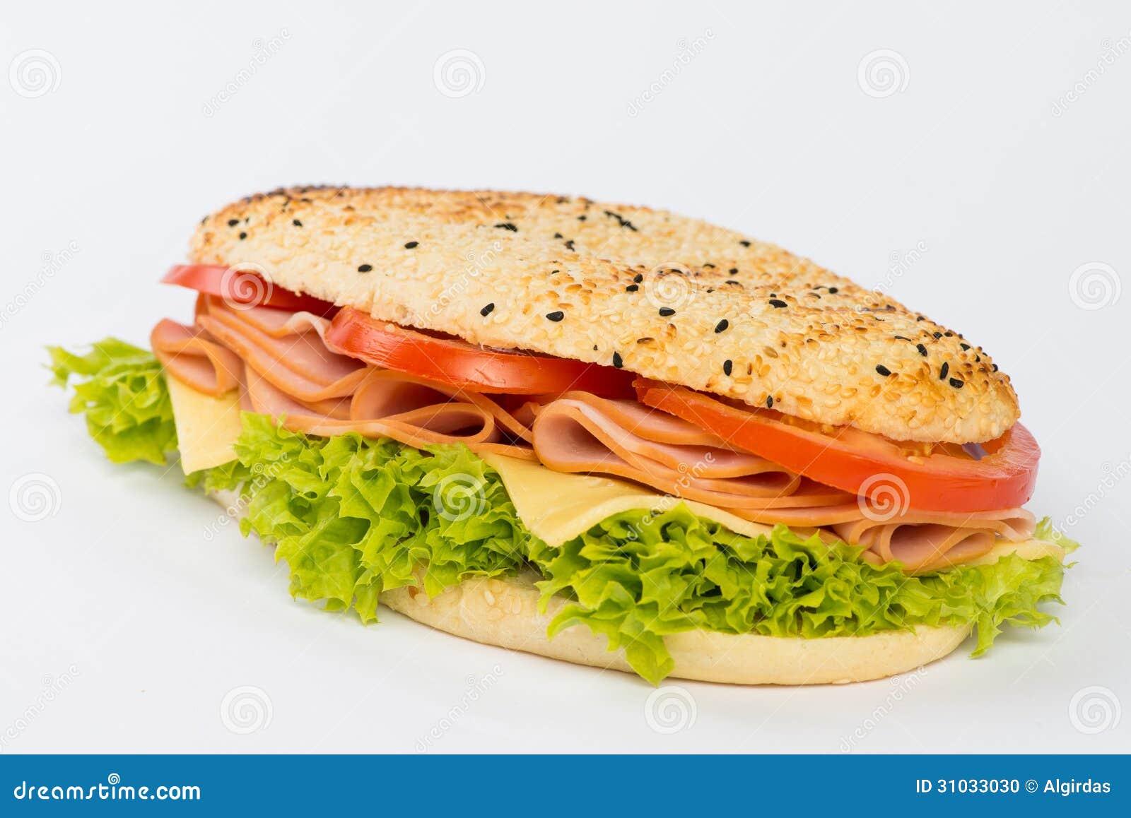 Ham And Cheese Sandwich Stock Photo - Image: 31033030