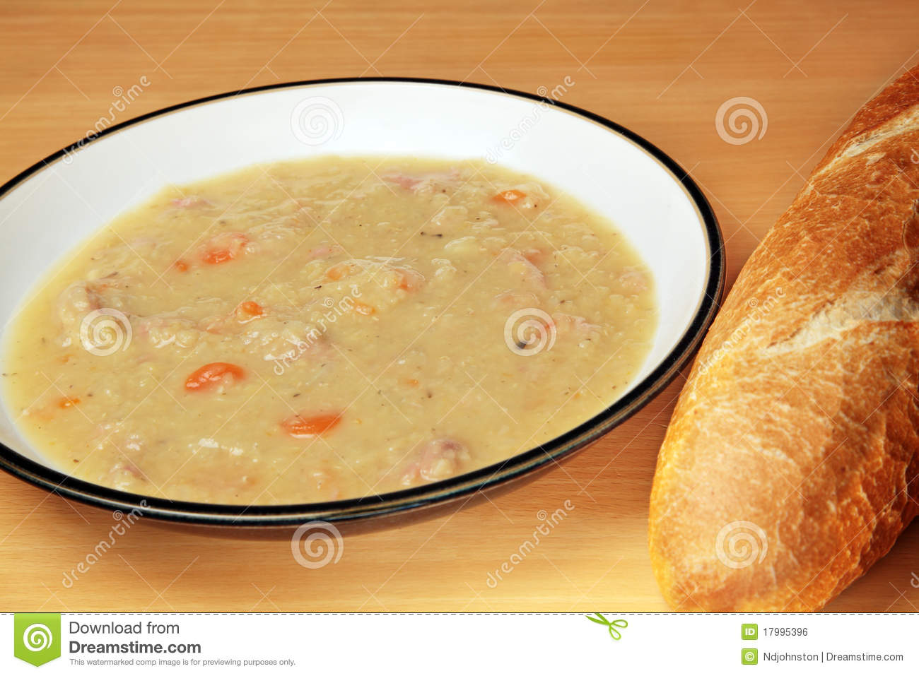 Ham And Lentil Soup Royalty Free Stock Image - Image: 17995396