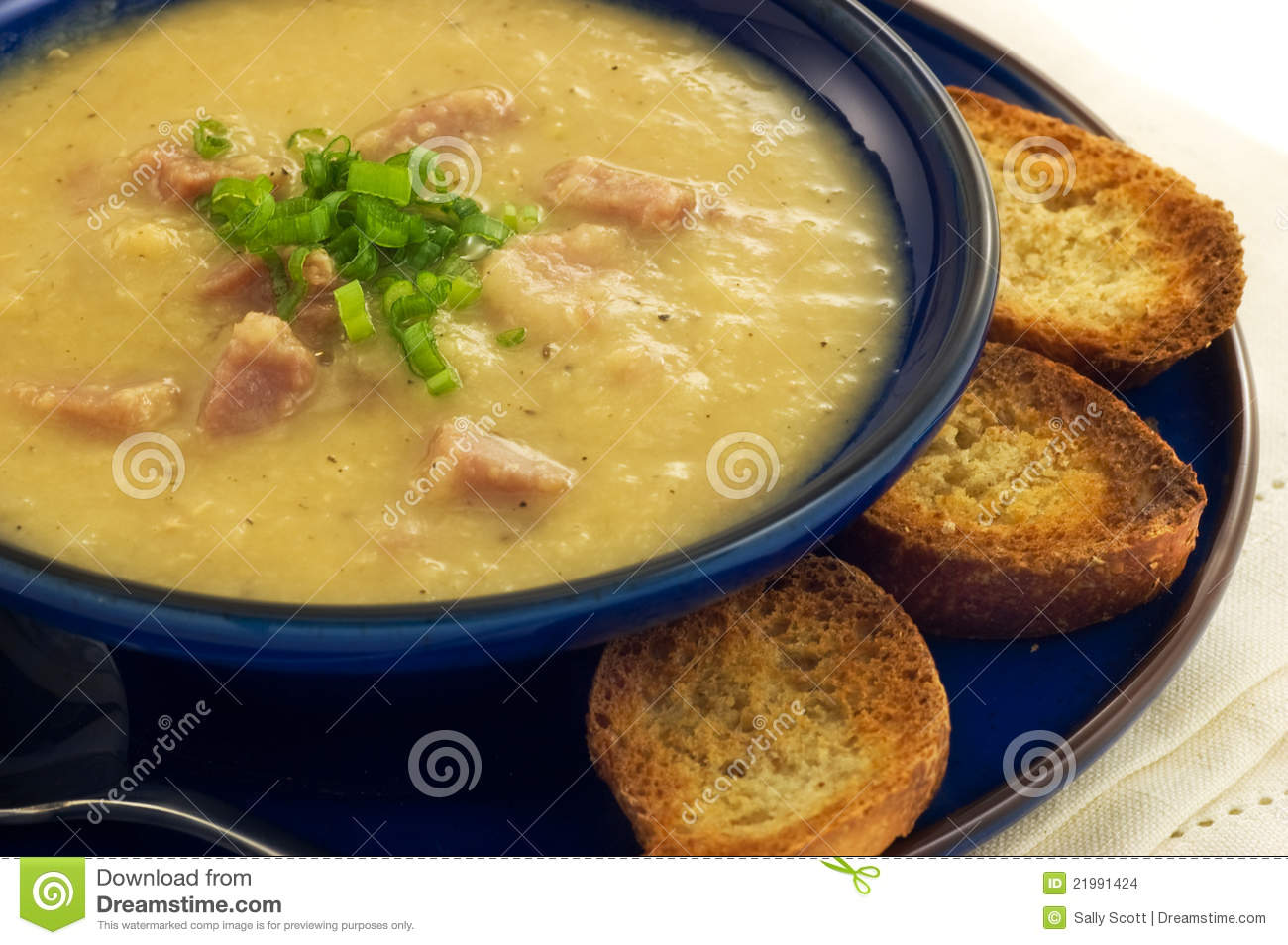 Ham And Lentil Soup Stock Images - Image: 21991424