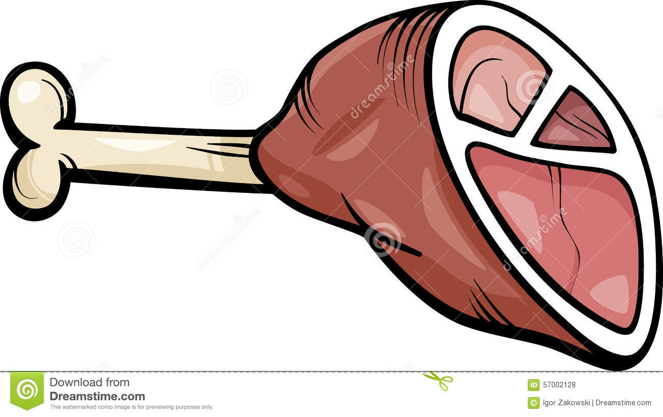 ham meat cartoon clip art stock vector illustration of food 57002128 rh dreamstime com