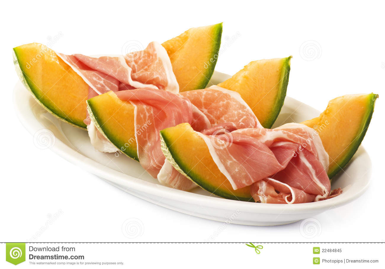 Ham And Melon Royalty Free Stock Photo - Image: 22484845: www.dreamstime.com/royalty-free-stock-photo-ham-melon-image22484845