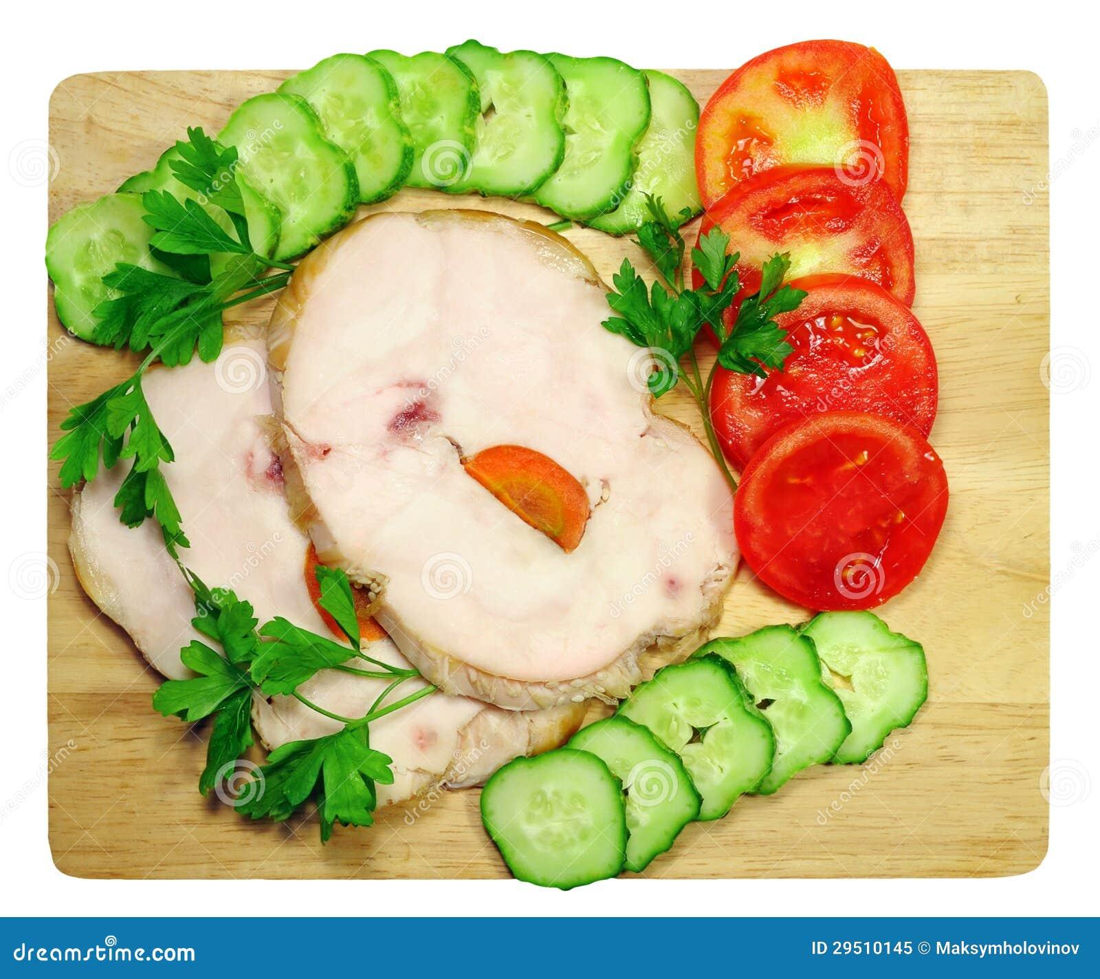 Ham met groenten
