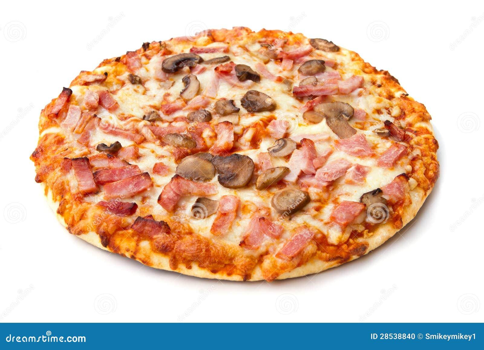 Пицца с салями и грибами рецепт