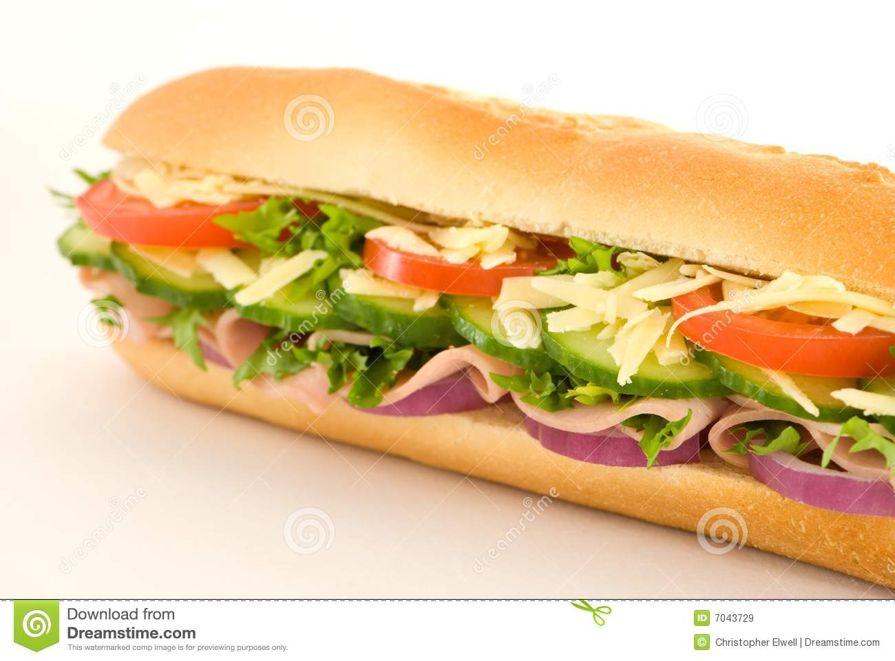 Ham Salad Sandwich Royalty Free Stock Images - Image: 7043729