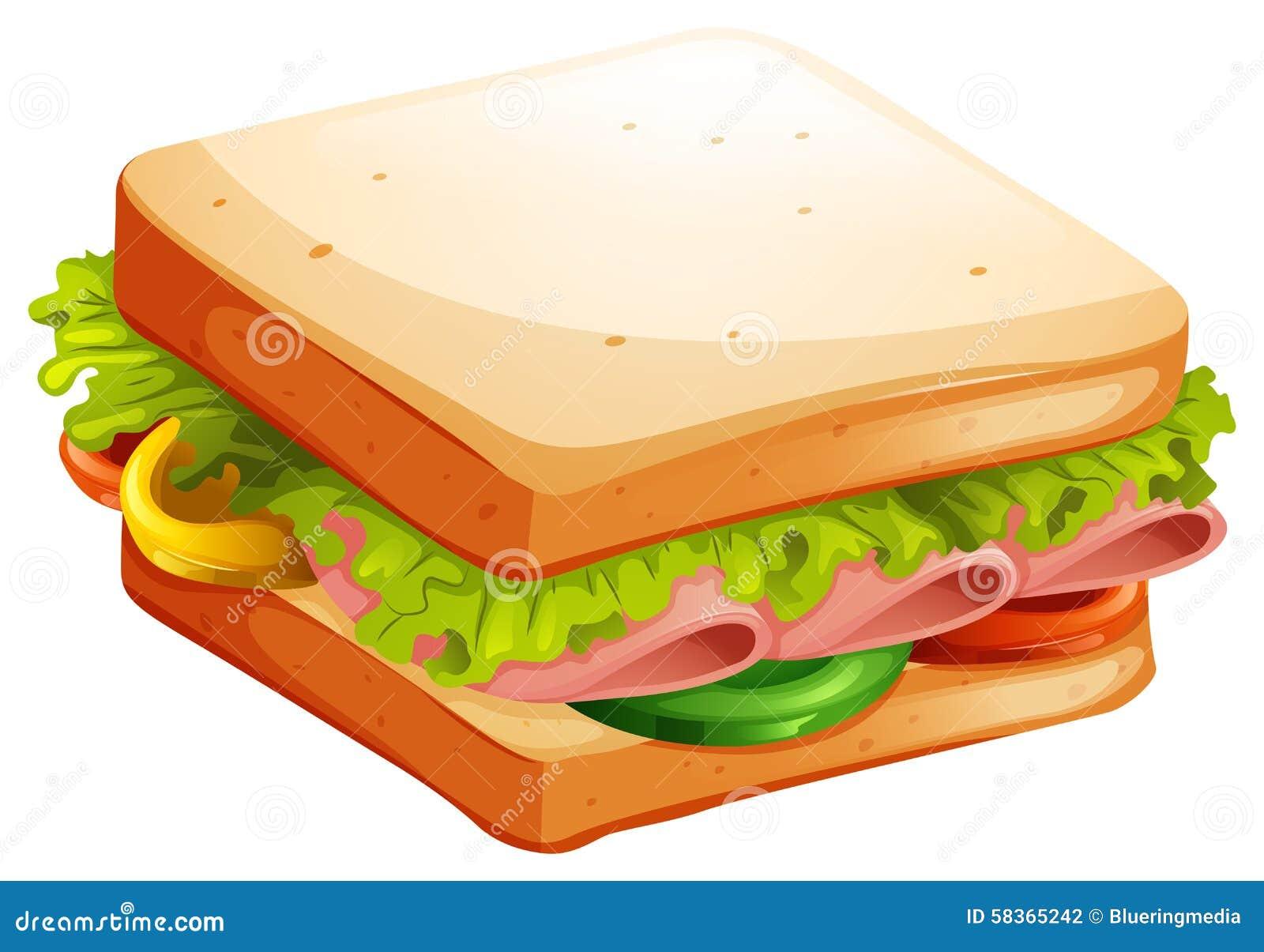 Ham Sandwich Stock Illustrations