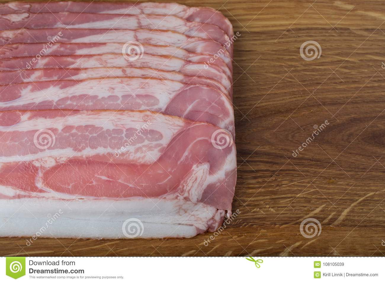Download Ham on a wooden desk stock image. Image of cooked, dinner - 108105039