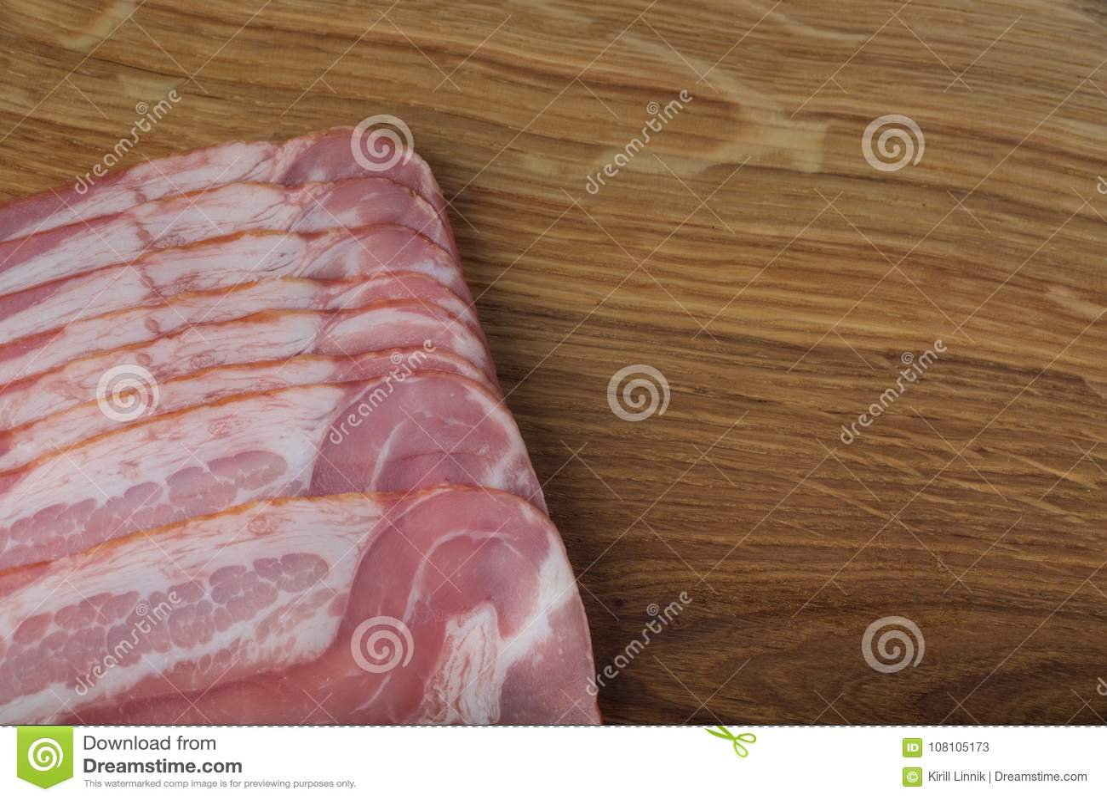 Download Ham on a wooden desk stock image. Image of pink, breakfast - 108105173