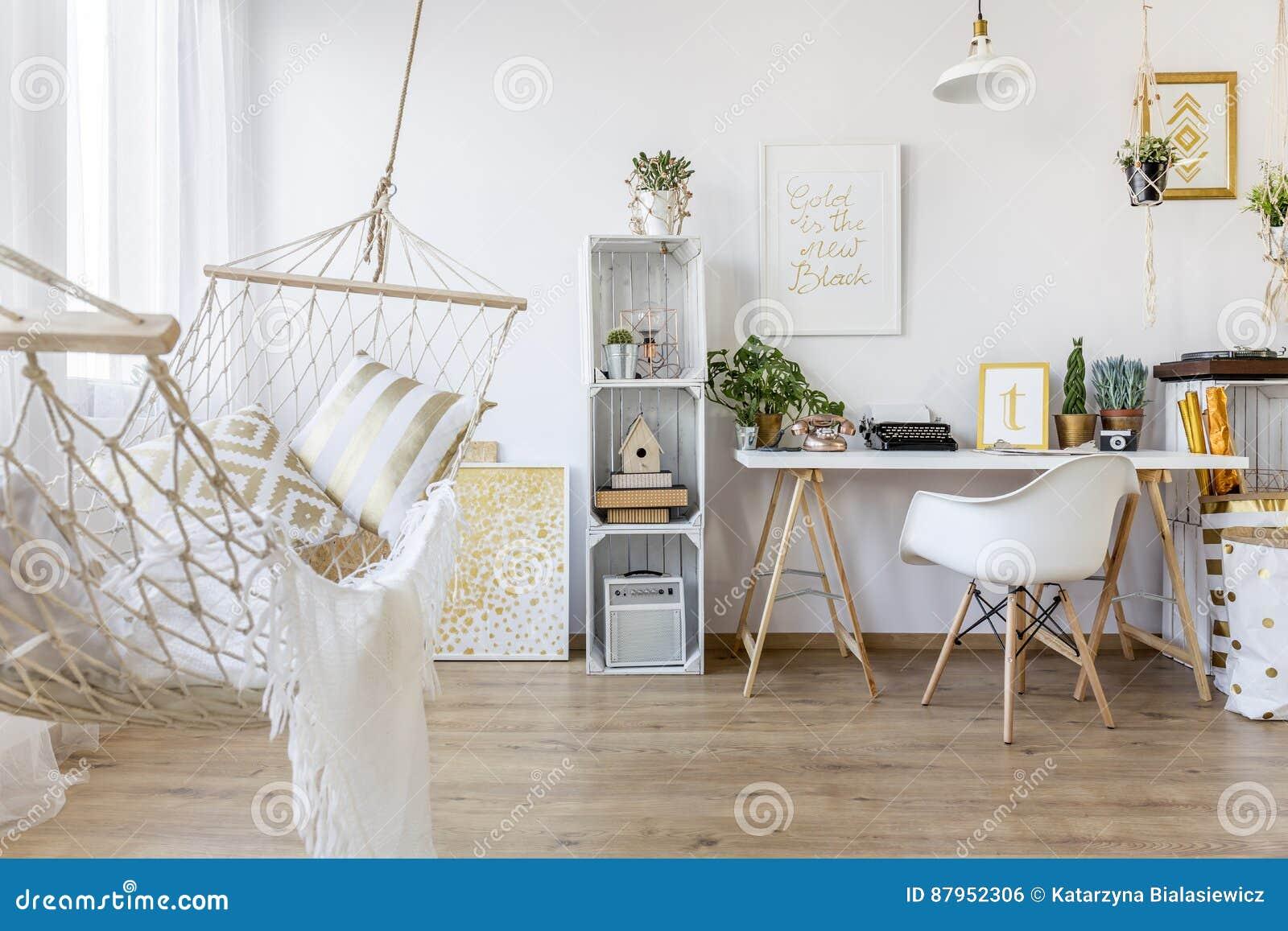 Hamac Dans La Chambre Photo Stock Image Du Scandinave 87952306