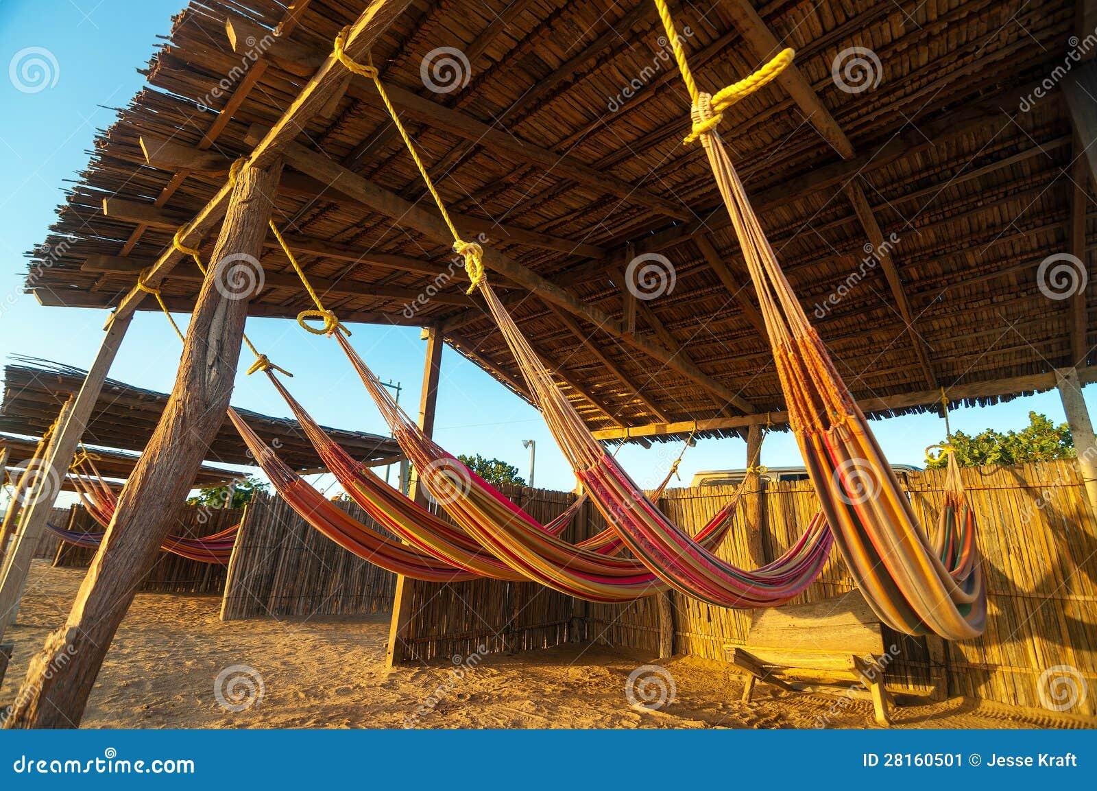 Hamacas coloridas de la playa imagen de archivo imagen 28160501 - Fotos de hamacas en la playa ...