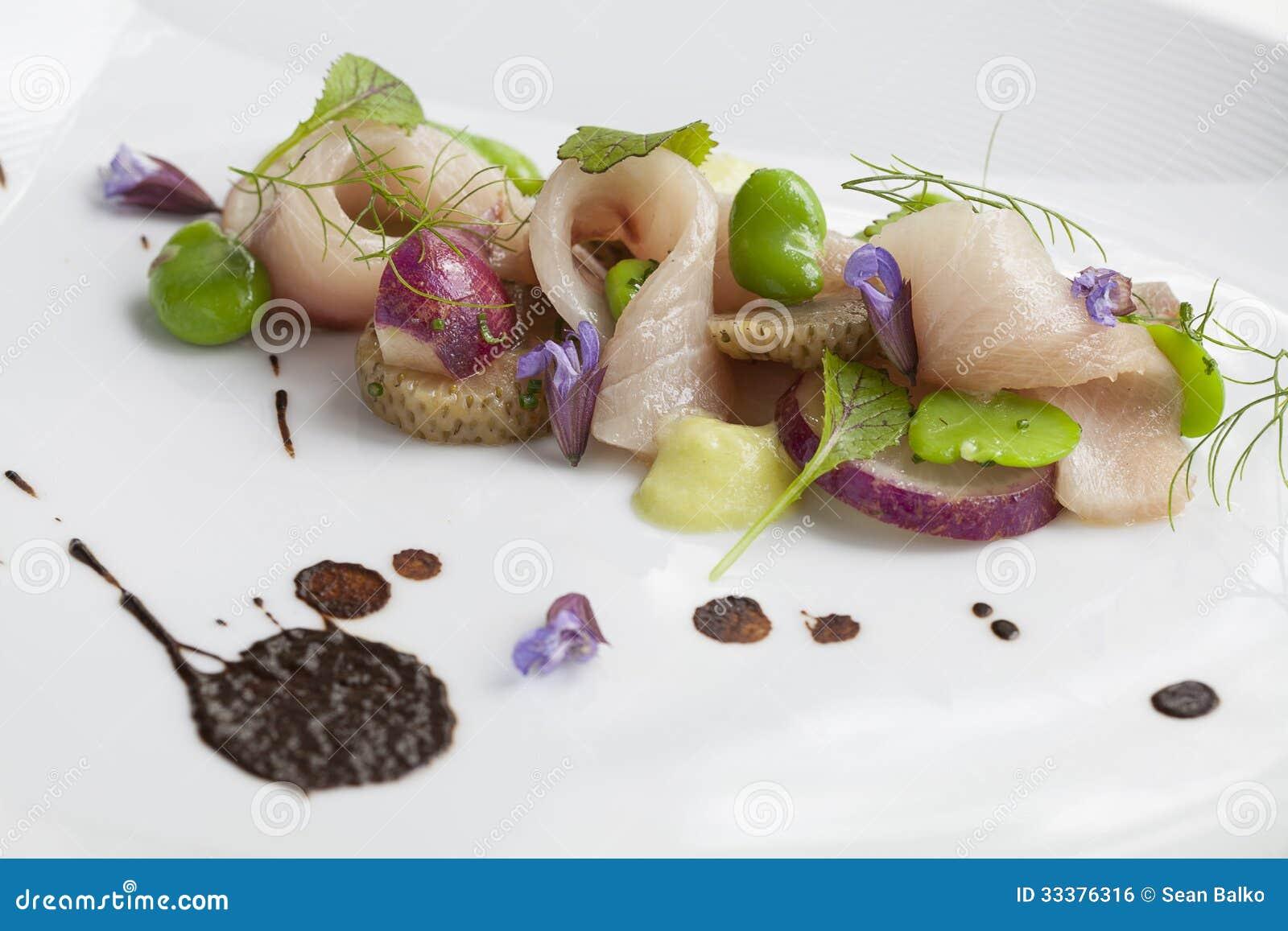 Hamachi Crudo Stock Photo Image Of Cream Cuisine Herbs 33376316