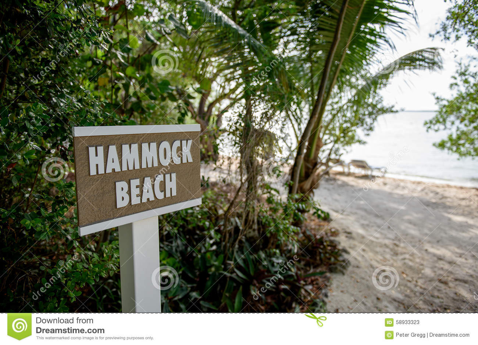 Hamak plaży znak
