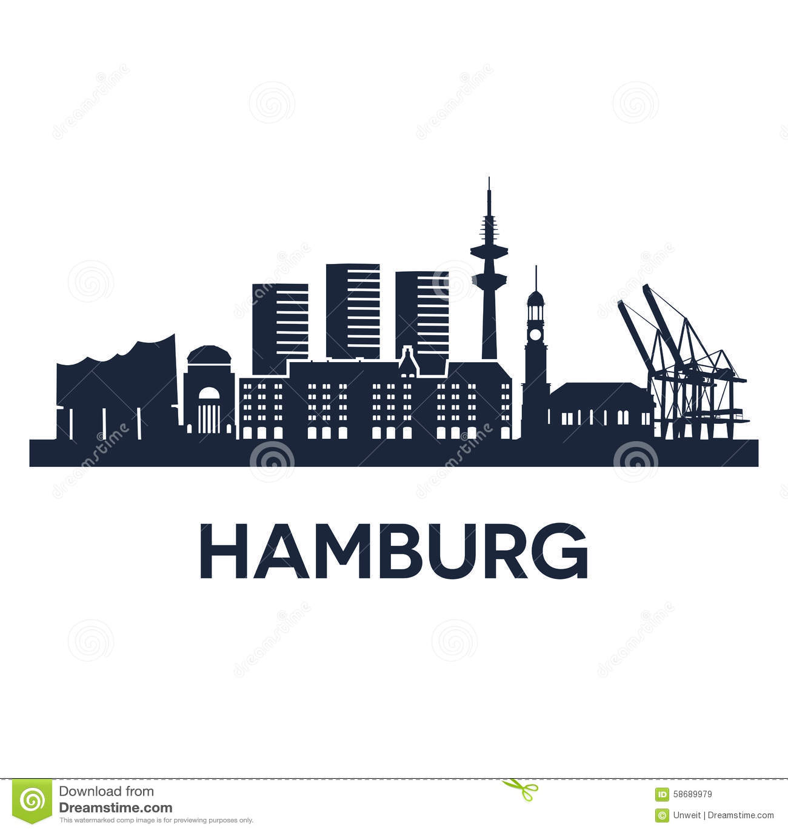 hamburg vektor abbildung illustration von symbol himmel. Black Bedroom Furniture Sets. Home Design Ideas