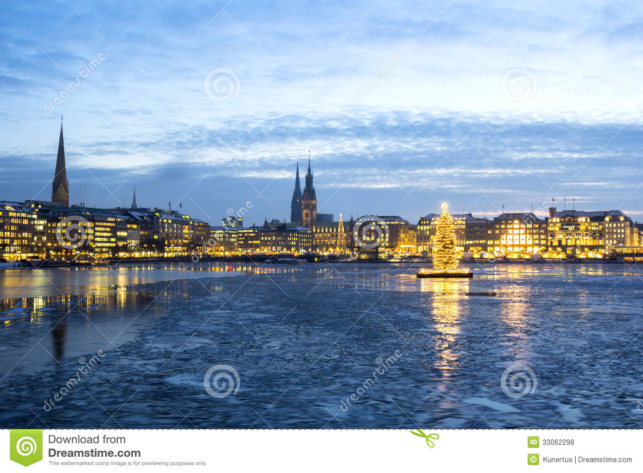 hamburg alster see am weihnachten stockfoto bild von. Black Bedroom Furniture Sets. Home Design Ideas