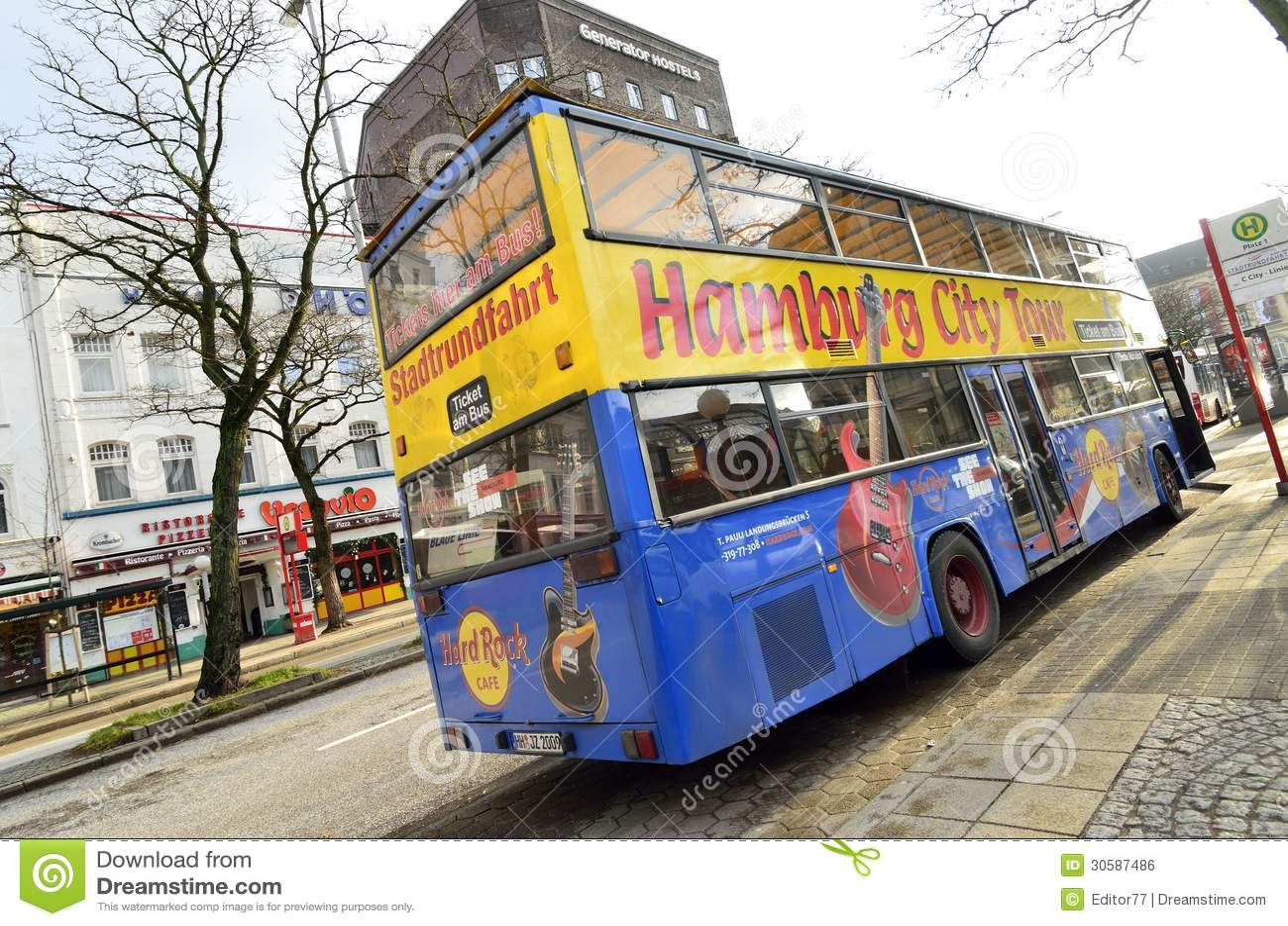 hamburg city tour bus editorial photo image 30587486. Black Bedroom Furniture Sets. Home Design Ideas