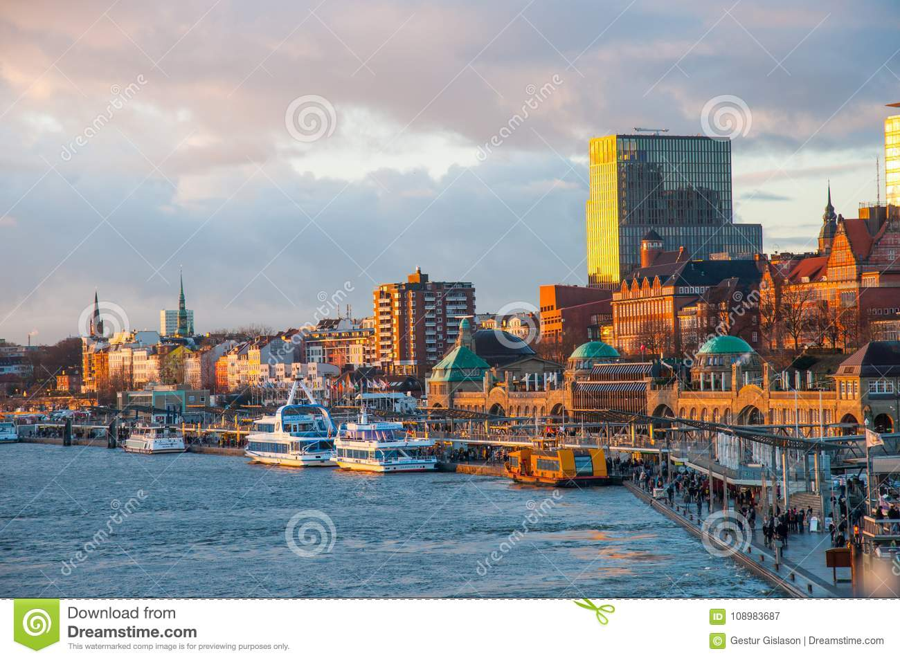 The waterfront of Hamburg