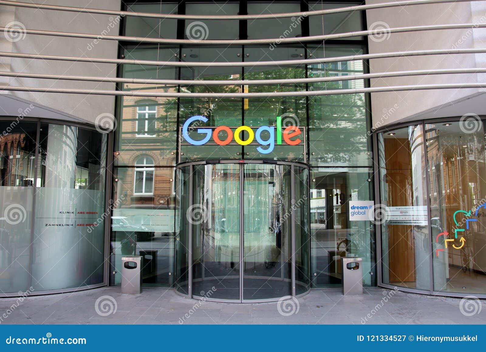 office of google. Company Logo At The Hamburg Office Of GOOGLE Google