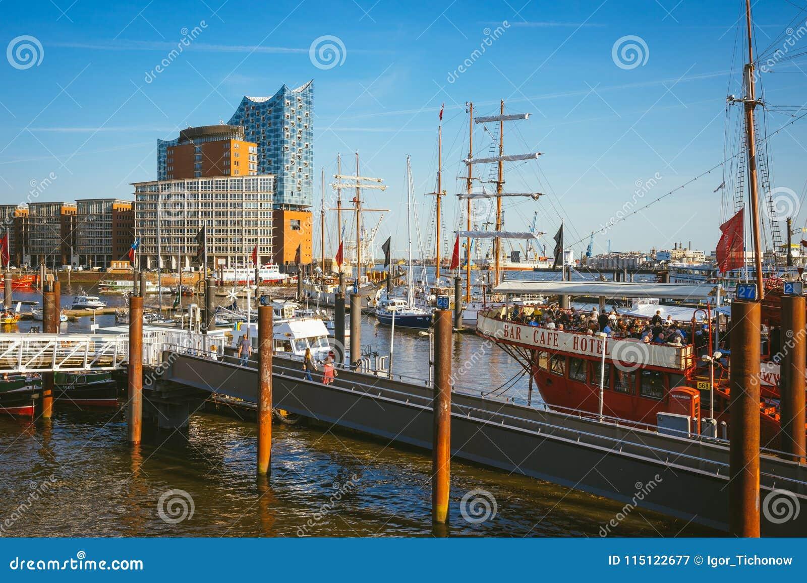 Hamburg Germany May 17 2018 Hafencity Speicherstadt