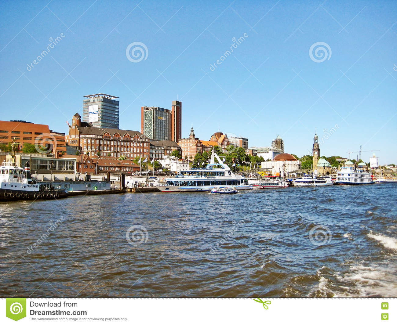 Stock photo hamburg germany riverside new - Hamburg Germany