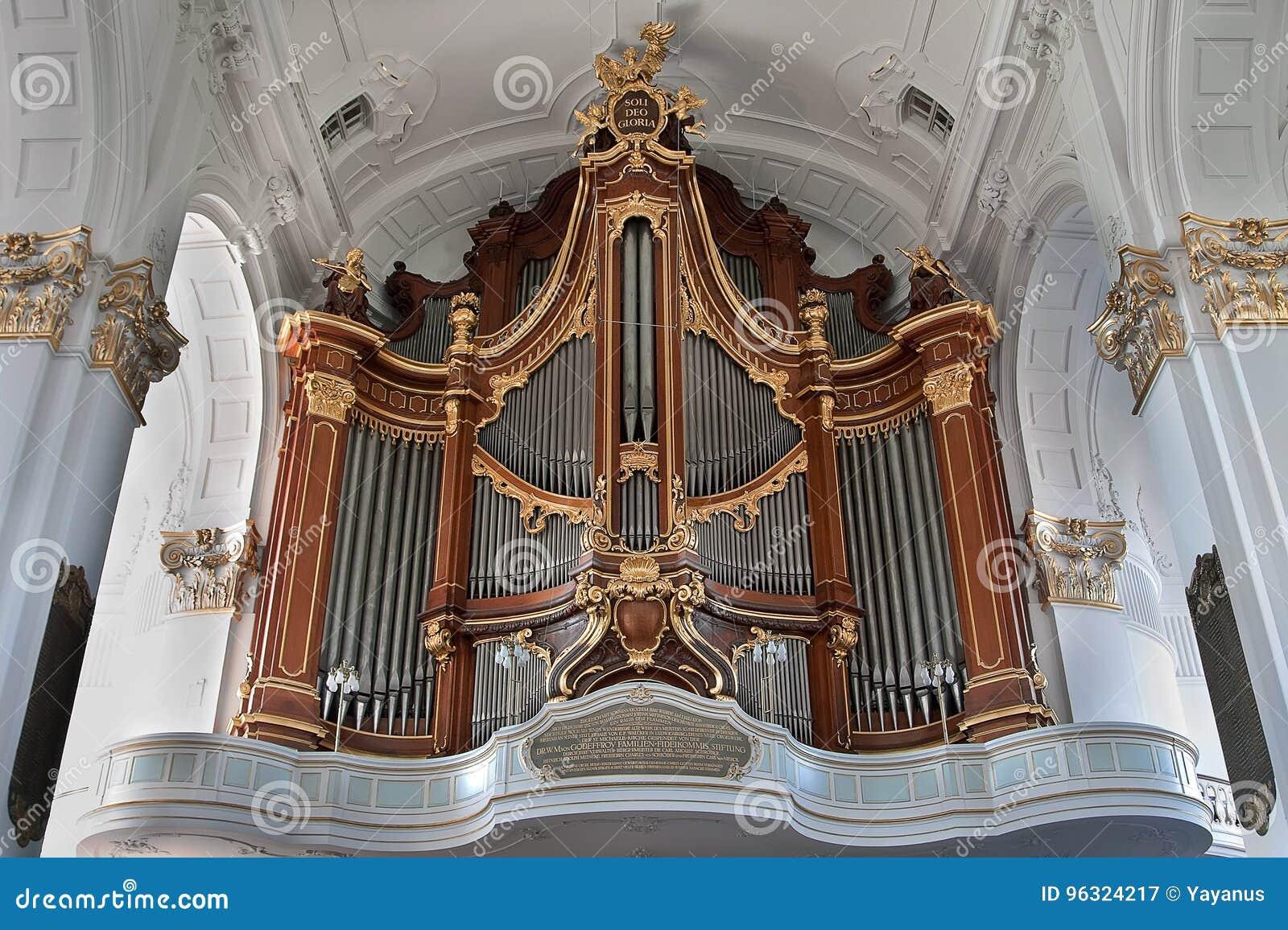 Hamburg, Germany  Organ In The St  Michael& X27