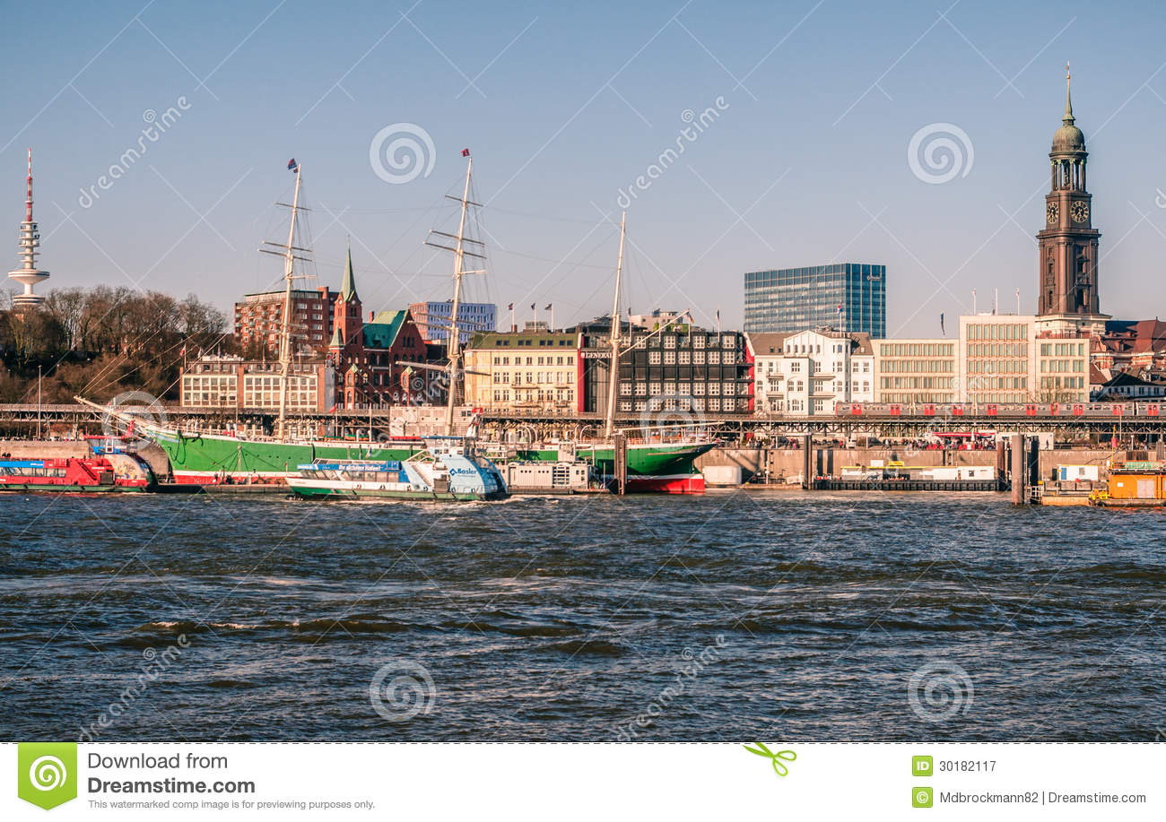 Stock photo hamburg germany riverside new - Hamburg Rickmer Rickmers