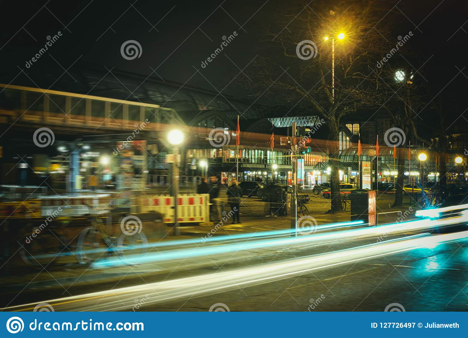 Hamburg, hafencity, czasu ujawnienie, żarówka, laser, architektura, czasu ujawnienie, samochody, laser