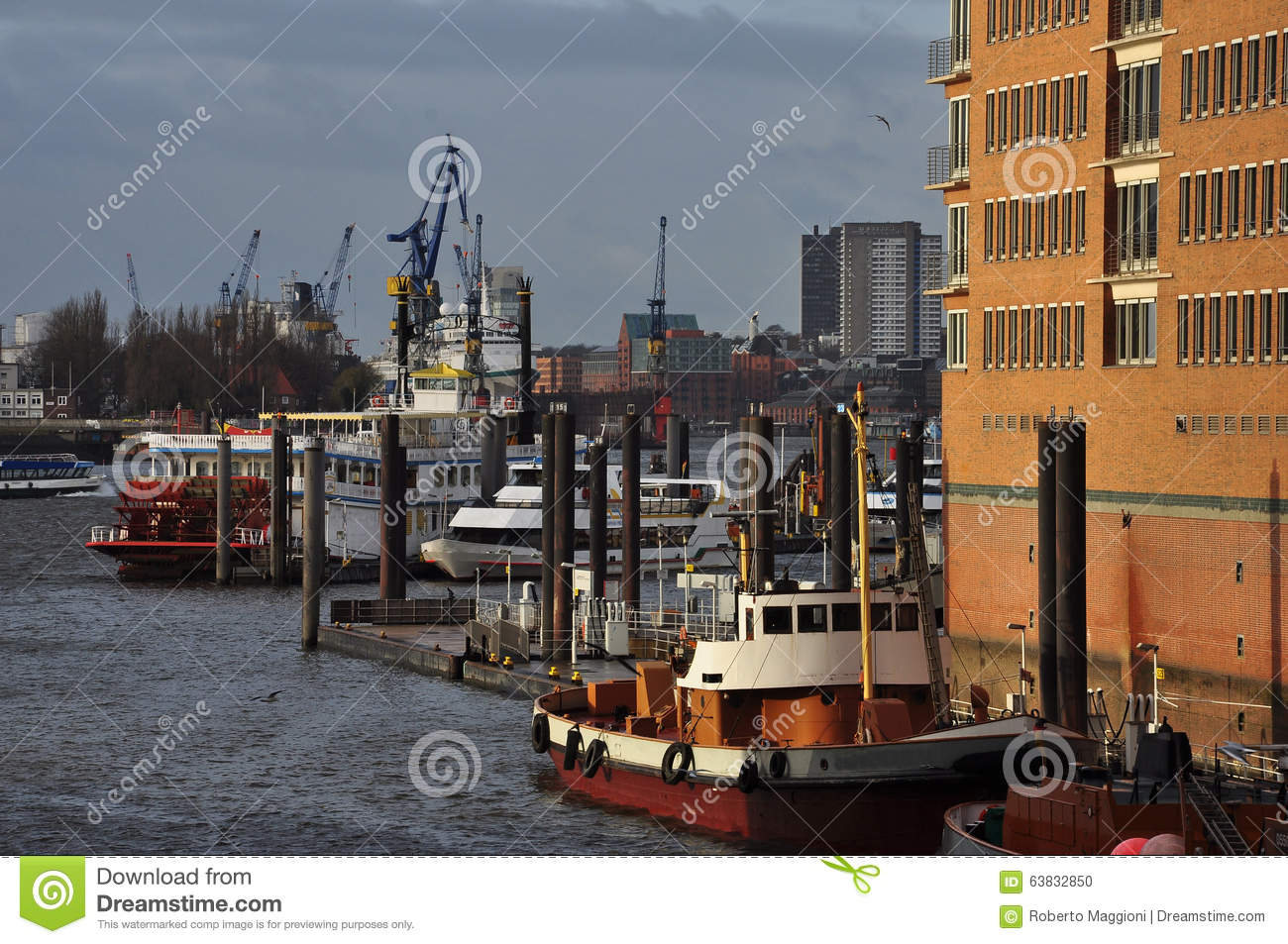 Stock photo hamburg germany riverside new - Buildings Development Elbe Germany Hamburg Harbor Harbour New Project River Riverside