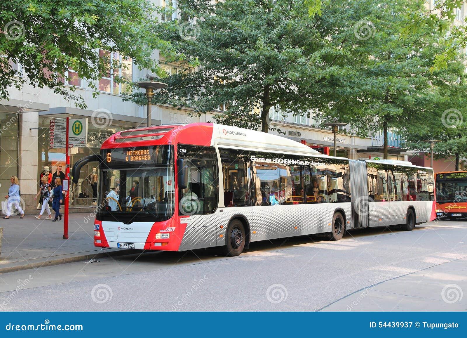 hamburg mann bus redaktionelles stockfotografie bild von europ isch 54439937. Black Bedroom Furniture Sets. Home Design Ideas