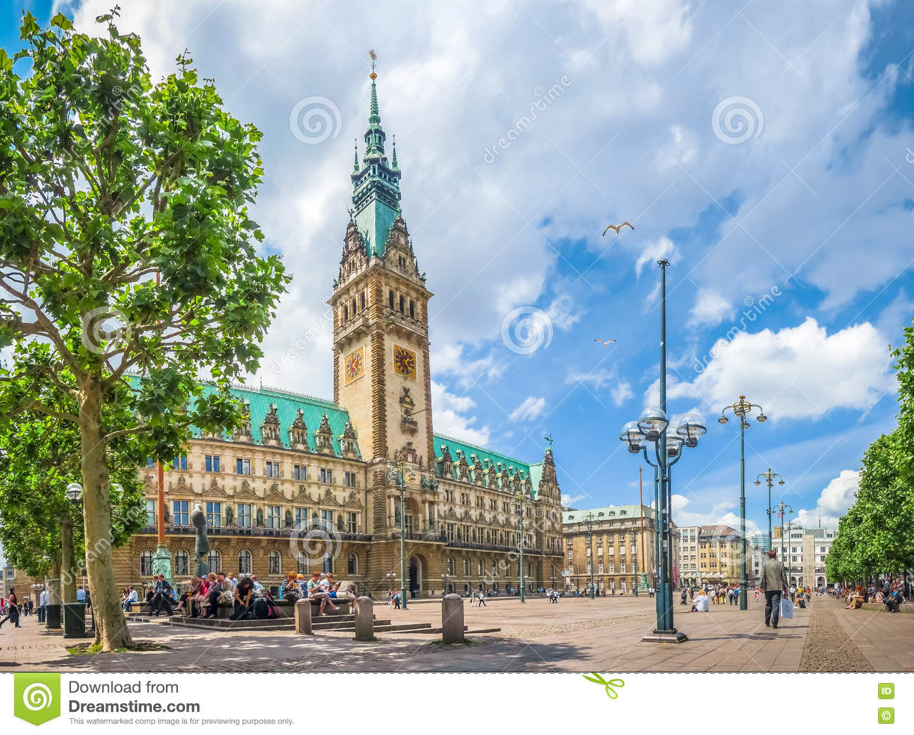 hamburg rathaus am marktplatz in altstadt viertel deutschland stockfoto bild 72325820. Black Bedroom Furniture Sets. Home Design Ideas