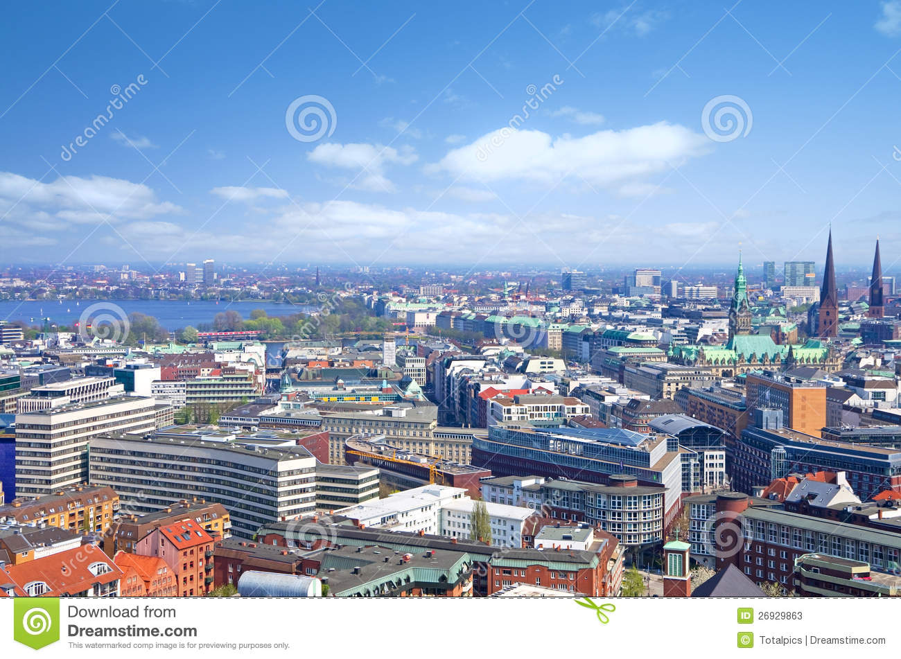 hamburg skyline alster stock photos image 26929863. Black Bedroom Furniture Sets. Home Design Ideas