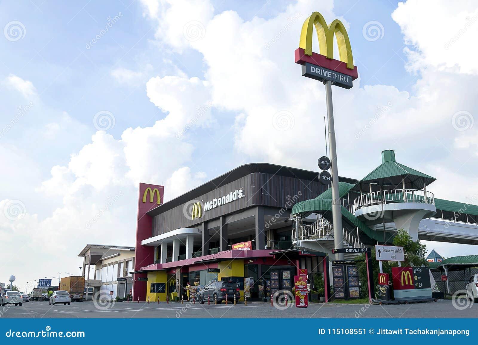 Hamburgare för ‹för †för ‹för †för försäljning för McDonald ` s vid drev igenom
