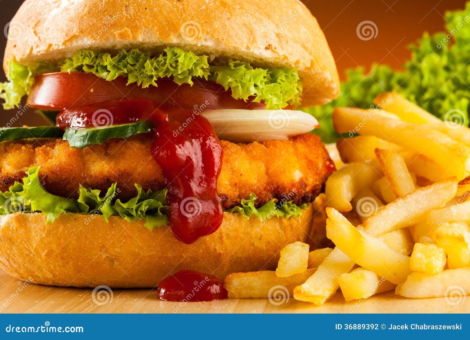 Download Hamburger fotografia stock. Immagine di pranzo, fresco - 36889392