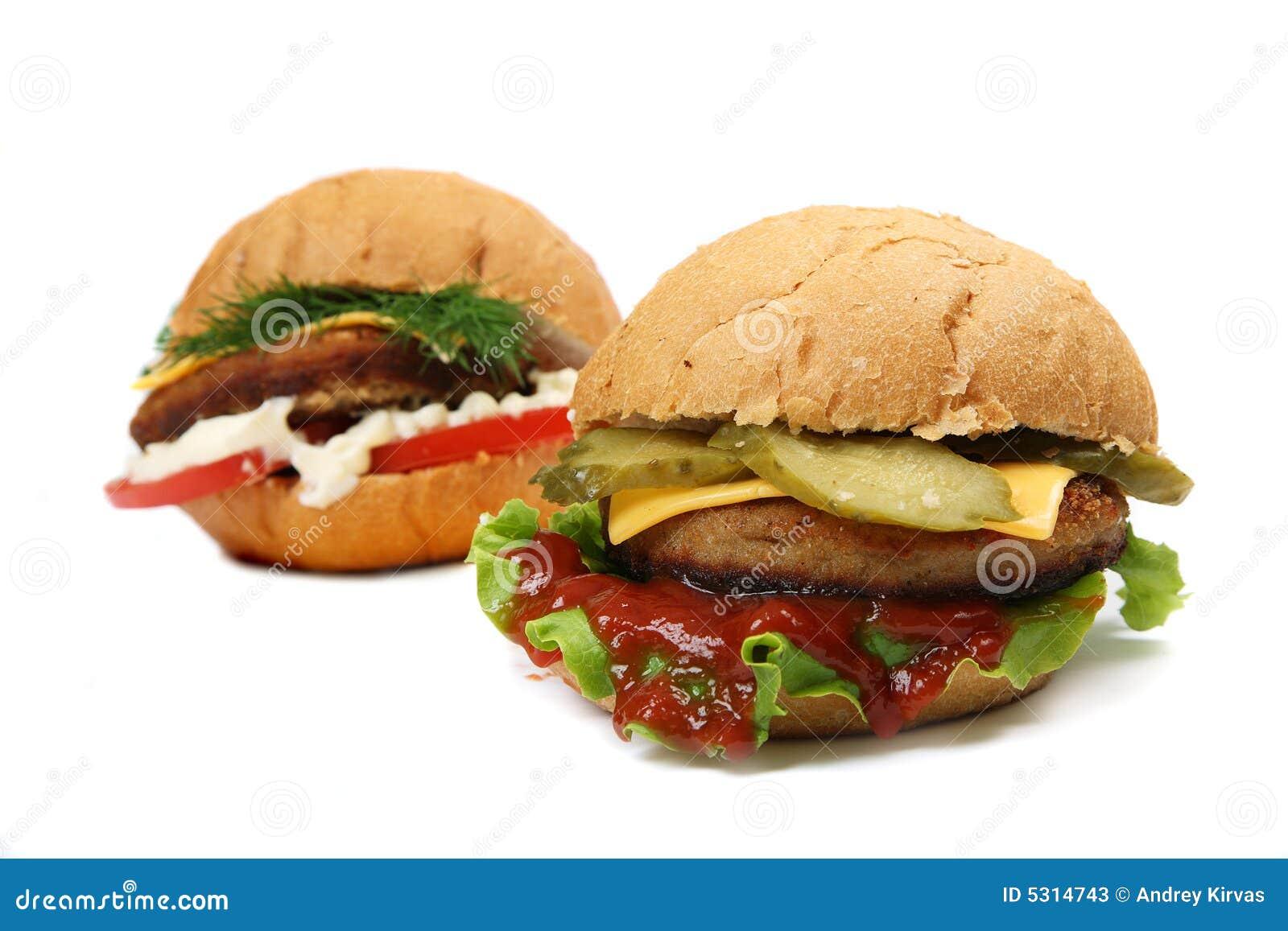 Download Hamburger immagine stock. Immagine di panino, cetriolo - 5314743