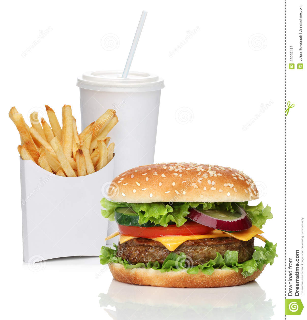 hamburger avec des pommes frites et une boisson de kola image stock image du fran ais gras. Black Bedroom Furniture Sets. Home Design Ideas