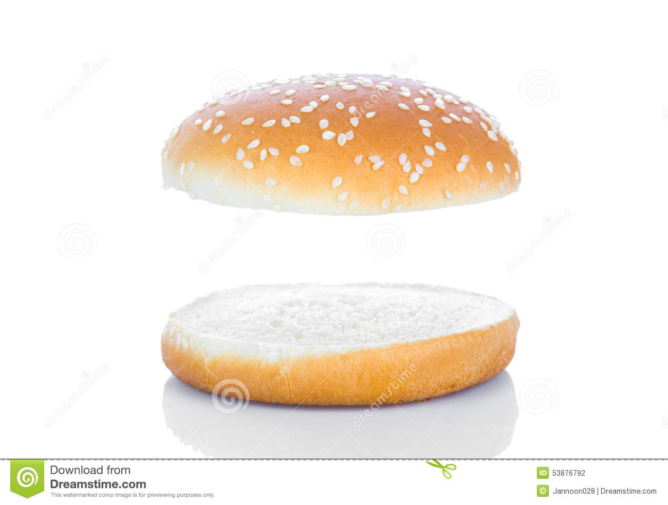 Hamburger Bun Stock Photo - Image: 53876792