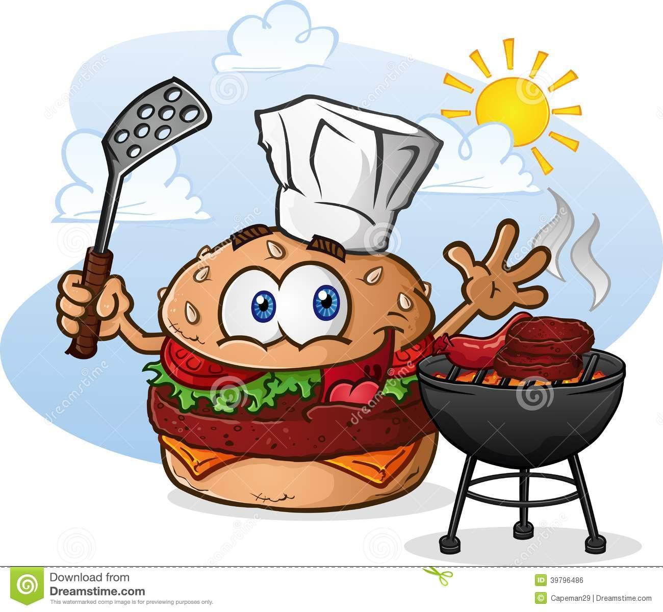 Hamburgers And Hotdogs On The Grill Clipart | www.pixshark ...