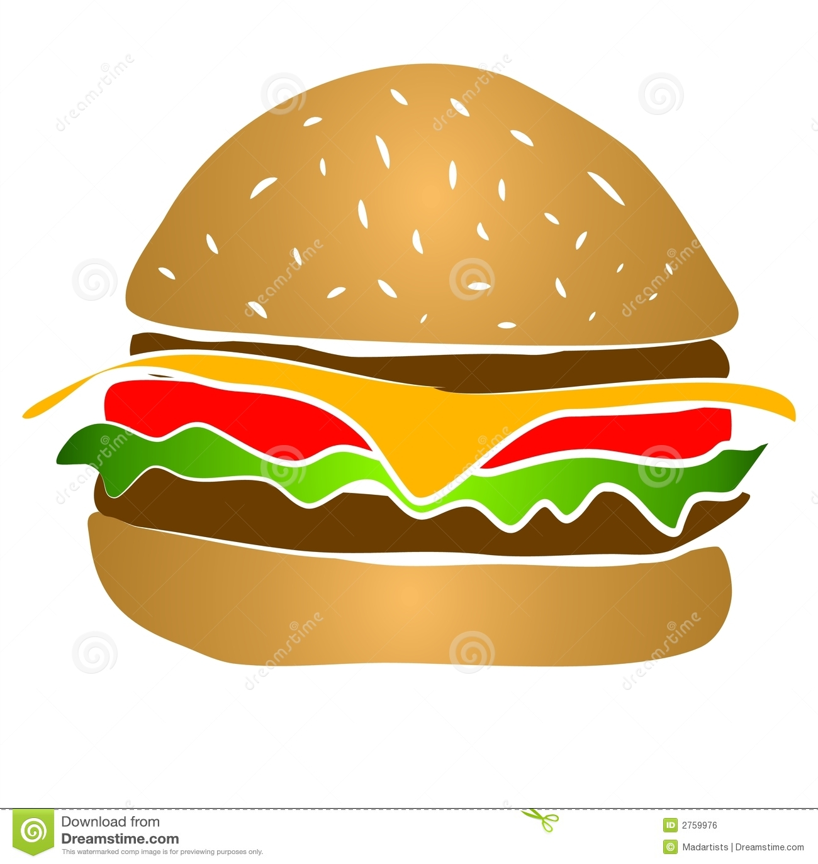 Hamburger Clipart do cheeseburger