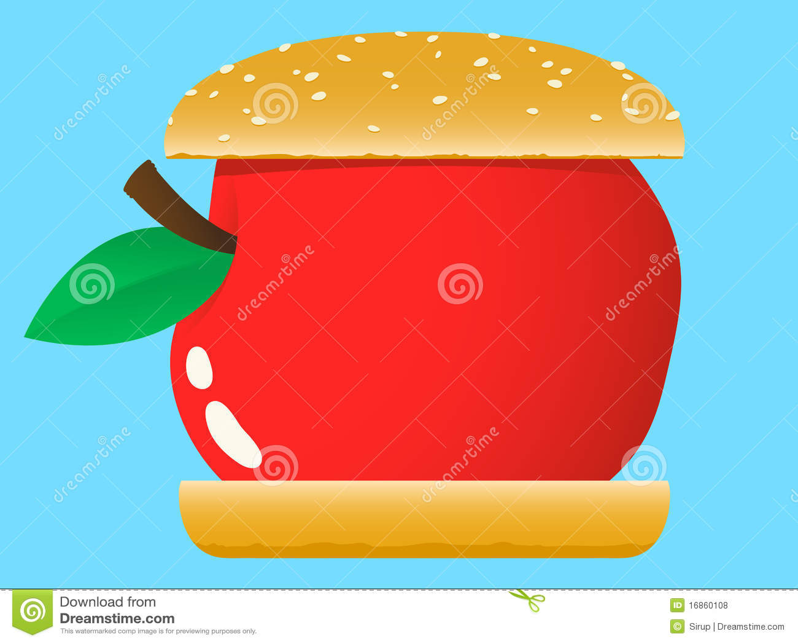 Hamburger de Apple - fast food