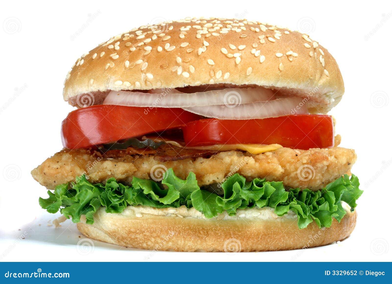 hamburger de poulet photographie stock image 3329652. Black Bedroom Furniture Sets. Home Design Ideas