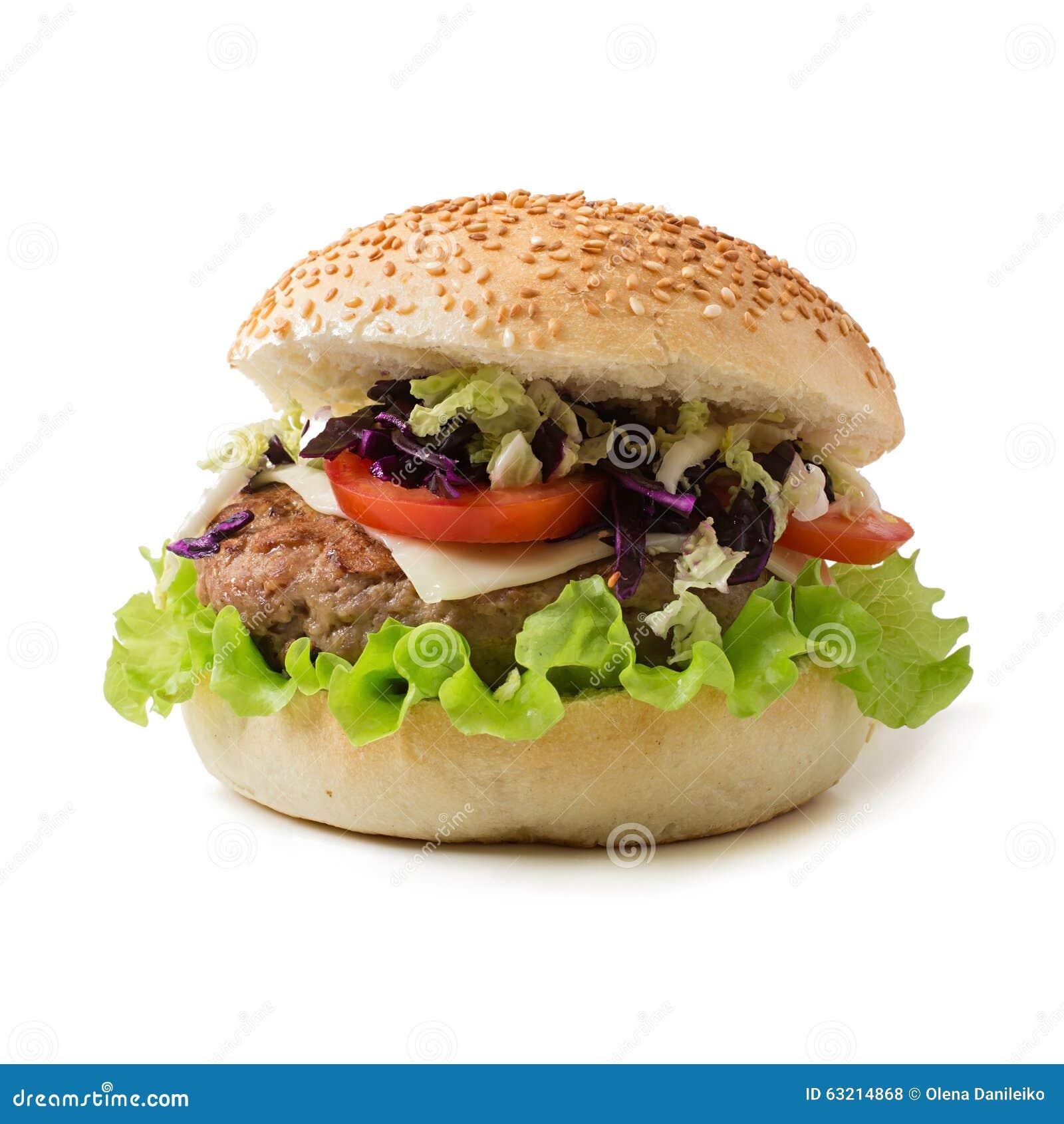 Hamburger de sandwich avec les hamburgers juteux, fromage