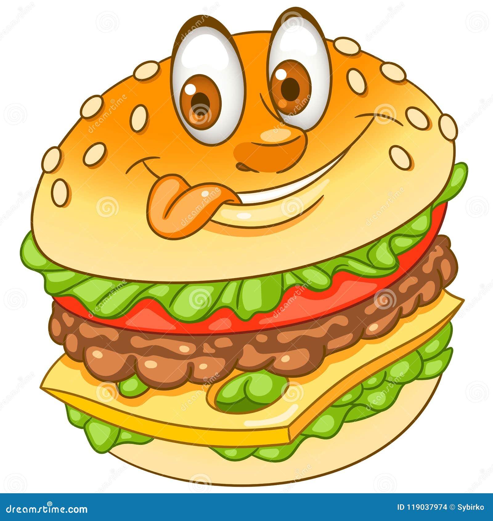Hamburger Do Hamburguer Do Cheeseburger Dos Desenhos Animados