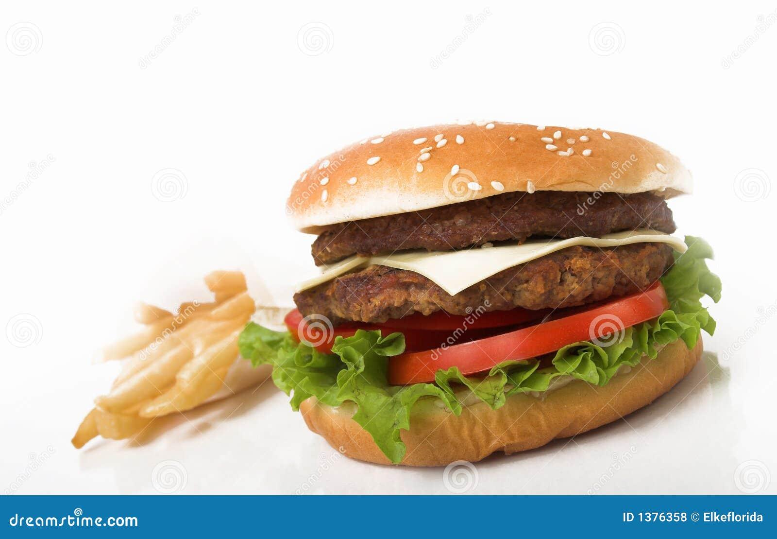 Hamburger e fritadas dobro