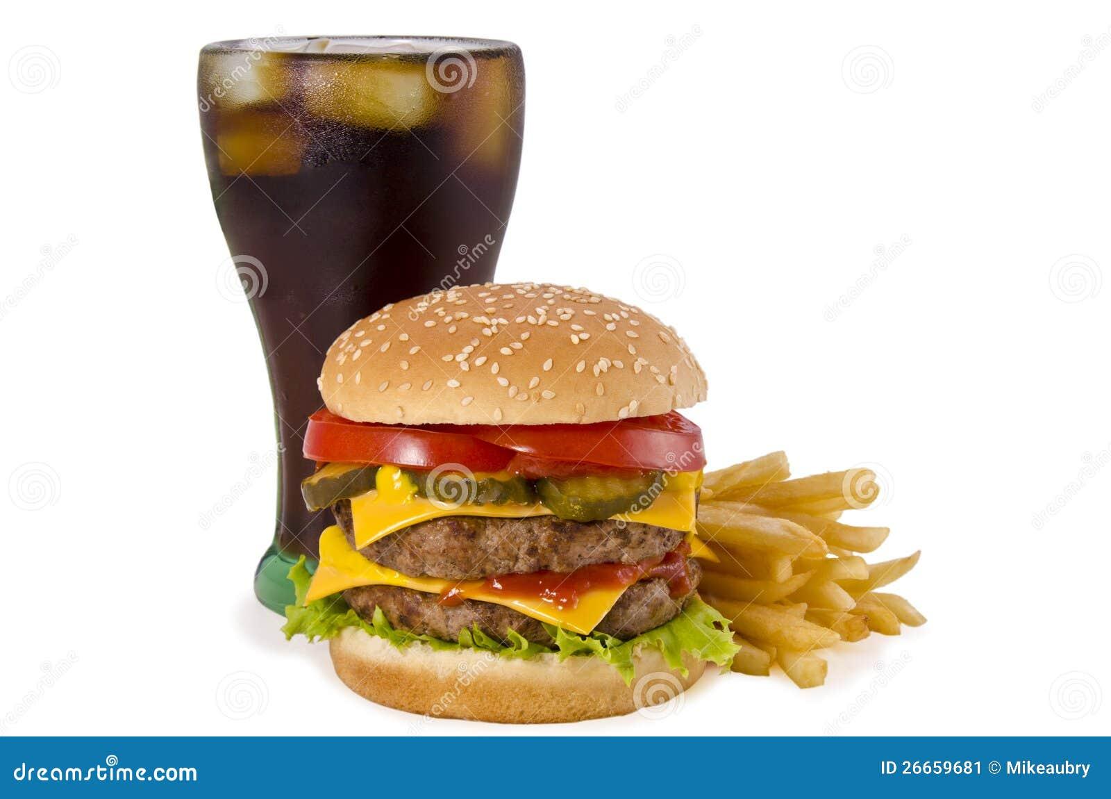 Hamburger francuscy dłoniaki i kola,