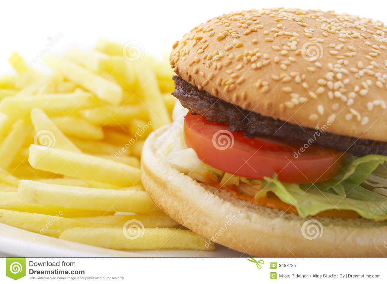 hamburger and french fries royalty free stock photo image 3488735. Black Bedroom Furniture Sets. Home Design Ideas